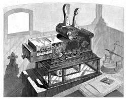 Кассовая машина 1878 года. Источник: Scientific American